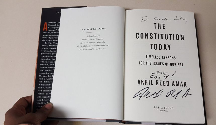 The Constitution Today with Akhil Reed Amar